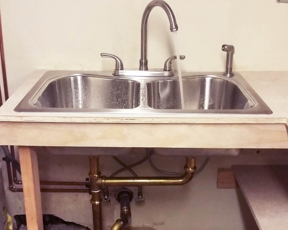 Double Sink Install